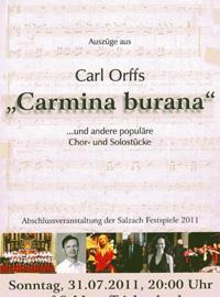 Carl Orffs Carmina burana und andere populäre Chor und Solostücke - Leitung Stephan Höllwerth