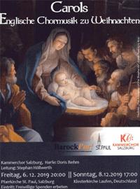 Carlols Englische Weihnachtschöre - Kammerchor Salzburg, Leitung Stephan Höllwerth