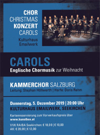 Carols Kammerchor Salzburg Englische Chormusik zur Weihnacht