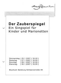 Der ZAuberspiegel Singspiel für Kinder und Marionetten - Musikalische Leitung Stephan Höllwerth