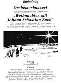 Weihnachten mit Bach - Leitung Stephan Höllwerth