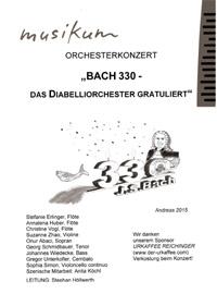 Bach 330 - das Diabelliorchester gratuliert - Orchesterkonzert - Leitung Stephan Höllwerth