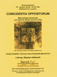 Coincidentia Oppositorum Mehrchörige Vocalmusik, LEitung Stephan Höllwerth