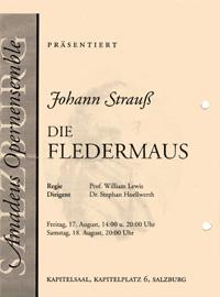 Die Fledermaus von Johann Strauß - Dirigent Stephan Höllwerth Salzburg