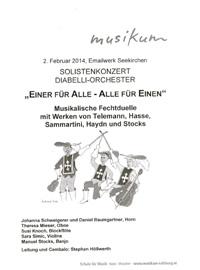 Einer für Alle - Alle für einen - musikalische Fechtduelle - Leitung und Cembalo Stephan Höllwerth