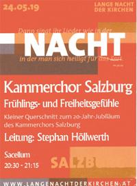 Kammerchor Salzburg Frühlings und Freiheitsgefühle - Leitung Stephan Höllwerth