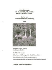 Mass of the Childres Chorkonzert - LEitung Stephan Höllwerth
