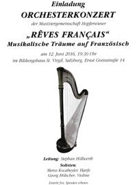 ORchesterkonzert Reves Francais- Leitung Stephan Höllwerth