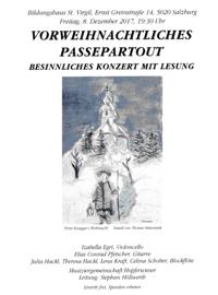Vorweihnachtliches Passpartout - besinnliches Konzert mit LEsung - musiziergemeinschaft Hopferwieser unter der Leitung stephan Höllwerth