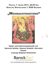 Weihnachtshistorie Vocal und Instrumentalmusik - LEitung Stephan Höllwerth