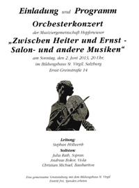 Zwischen Heiter und Ernst - Salon und andere Musiken