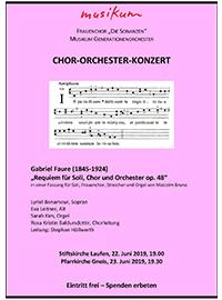 Konzertprogramme - Chor Orchester Konzert - Leitung Stephan Höllwerth