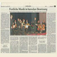 Rezension - Dirigent Stephan Höllwerth - Festliche Musik in barocker BEsetzung