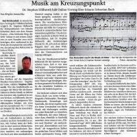 Stephan Höllwerth hält online Vortrag über Johann Sebastian Bach